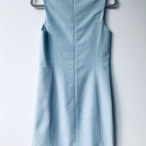 Tocca Pale Blue Sheath Sleeveless Dress NWOT 6